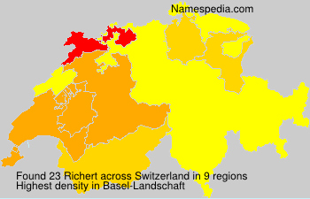 Surname Richert in Switzerland
