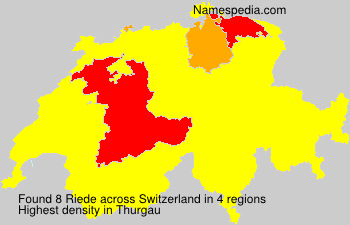 Surname Riede in Switzerland