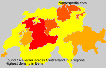 Surname Riedler in Switzerland