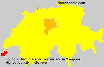 Surname Riedlin in Switzerland