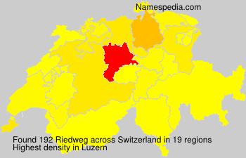 Surname Riedweg in Switzerland