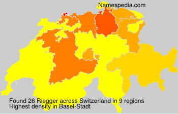 Surname Riegger in Switzerland