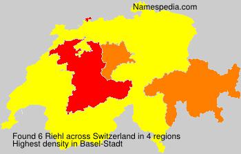 Surname Riehl in Switzerland