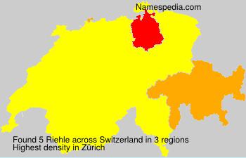 Surname Riehle in Switzerland