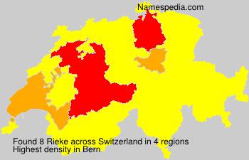 Familiennamen Rieke - Switzerland
