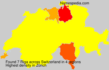 Surname Riga in Switzerland