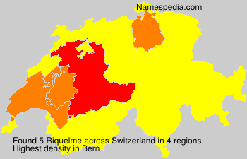 Surname Riquelme in Switzerland