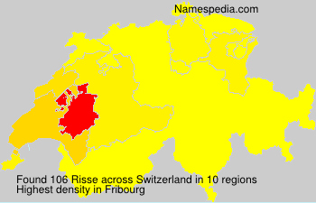 Surname Risse in Switzerland