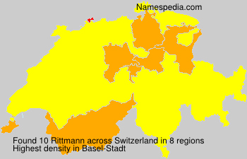 Surname Rittmann in Switzerland