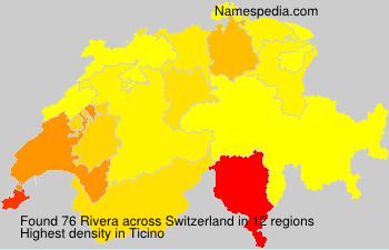 Familiennamen Rivera - Switzerland