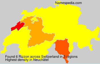 Surname Rizzon in Switzerland
