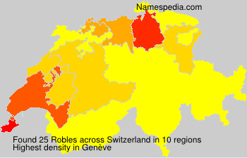 Surname Robles in Switzerland