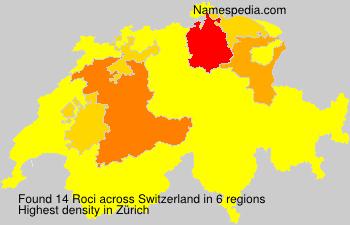 Surname Roci in Switzerland