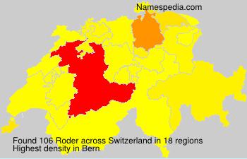Surname Roder in Switzerland