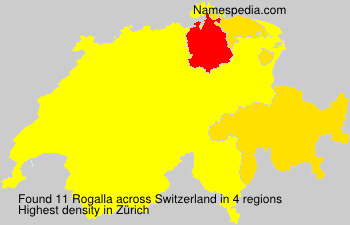 Surname Rogalla in Switzerland