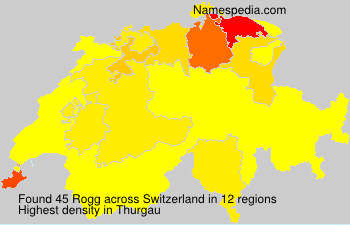 Surname Rogg in Switzerland