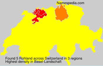 Surname Rohland in Switzerland