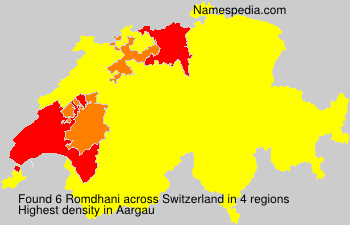 Surname Romdhani in Switzerland