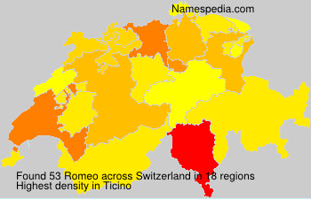 Surname Romeo in Switzerland