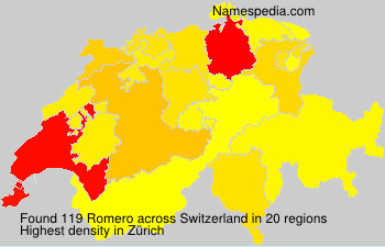 Surname Romero in Switzerland