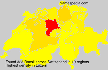 Surname Roosli in Switzerland