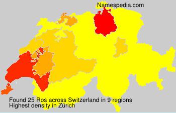 Surname Ros in Switzerland