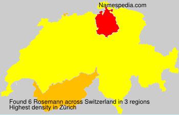 Surname Rosemann in Switzerland