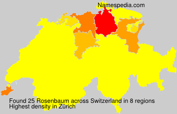 Surname Rosenbaum in Switzerland