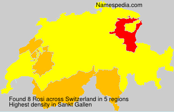 Surname Rosi in Switzerland