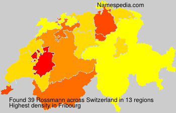 Surname Rossmann in Switzerland