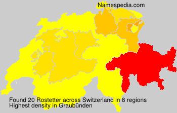 Surname Rostetter in Switzerland