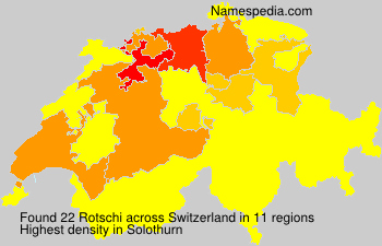 Surname Rotschi in Switzerland