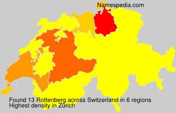 Surname Rottenberg in Switzerland