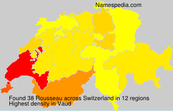 Surname Rousseau in Switzerland