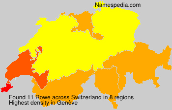 Surname Rowe in Switzerland
