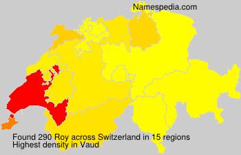 Surname Roy in Switzerland