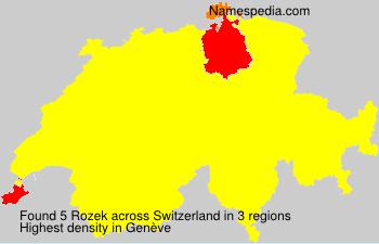 Familiennamen Rozek - Switzerland