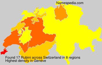 Surname Rubini in Switzerland