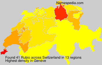 Surname Rubio in Switzerland