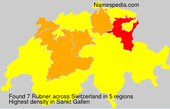 Surname Rubner in Switzerland