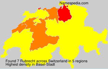 Surname Rubrecht in Switzerland