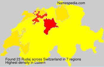 Familiennamen Rudaj - Switzerland