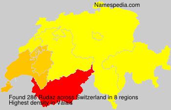 Familiennamen Rudaz - Switzerland