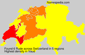 Surname Rude in Switzerland