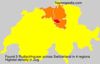 Familiennamen Rudischhauser - Switzerland