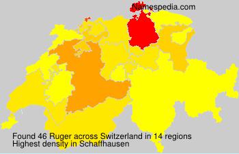 Surname Ruger in Switzerland