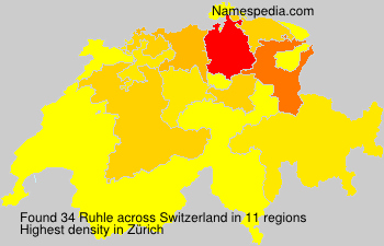 Surname Ruhle in Switzerland