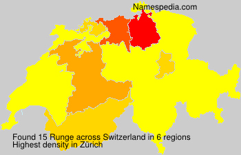 Surname Runge in Switzerland