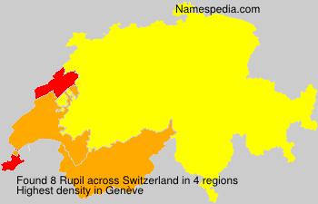 Surname Rupil in Switzerland