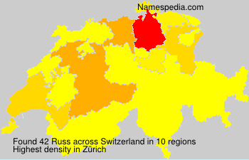 Familiennamen Russ - Switzerland